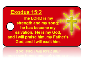Exodus 15:2 Holiday Scripture Key Tags