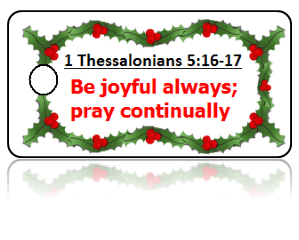 1 Thessalonians 5:17 Holiday Scripture Key Tags