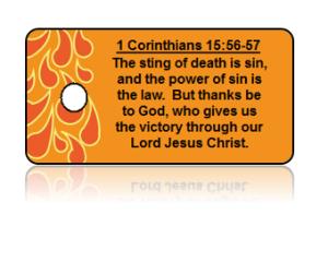 1 Corinthians 16:56-57 Holiday Scripture Key Tags