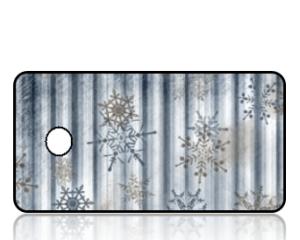 Create Design Key Tags Silver Snowflakes