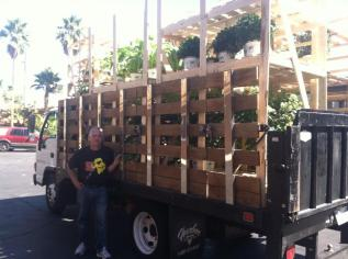Special thanks to Home Depot for a donation of 4 truckloads of plants. We are keeping a portion to be planted @ Veterans Village and distributing the rest to other local Southern Nevada non profit organizations. Ultimate repurposing made simple.