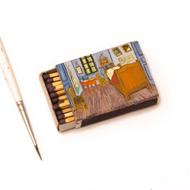 Van-Goghs-paintings-still-look-amazing-on-tiny-matchboxes1