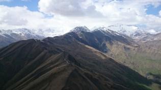 Headed towards Mt Kazbek. Landed on shelf lower right