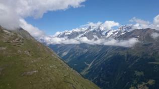 Above Zermatt heading down valley
