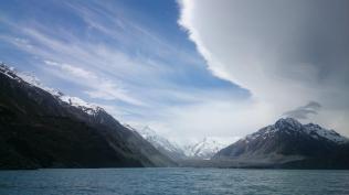 Mt Cook from Tasman lake, 6 Dec