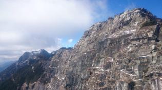 Cliffs, highlight of the flight