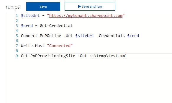 Office 365 - Azure - Running PnP PowerShell using Azure Functions 17