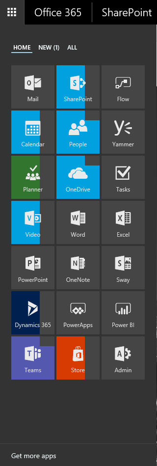 Office 365 - The App Launcher game Microsoft 365