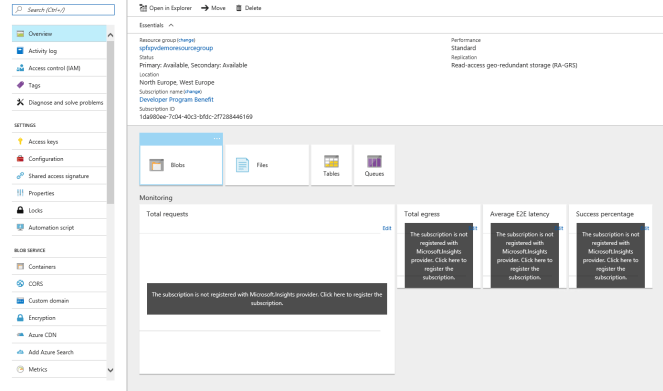 Office 365 - SharePoint - Create a Client Side Web Part using SPFx and CDN Microsoft Office 365, Microsoft SharePoint, SPFx or SharePoint Framework staorageaccount