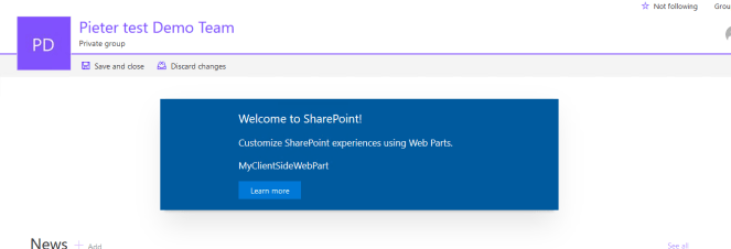 Office 365 - SharePoint - SPFx - There was a network problem 2