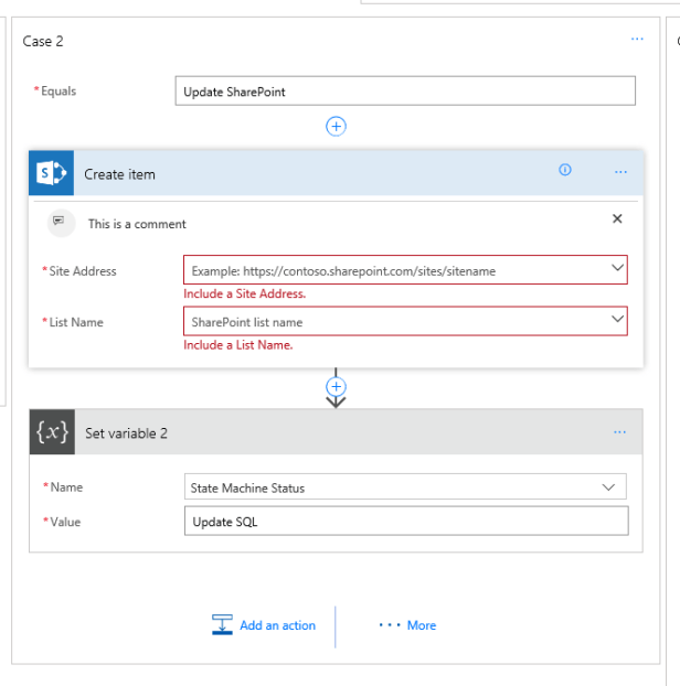 Implementing a State Machine using Microsoft Flow 13