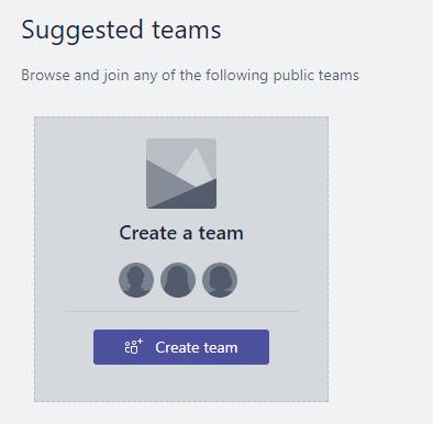 Suggested Teams