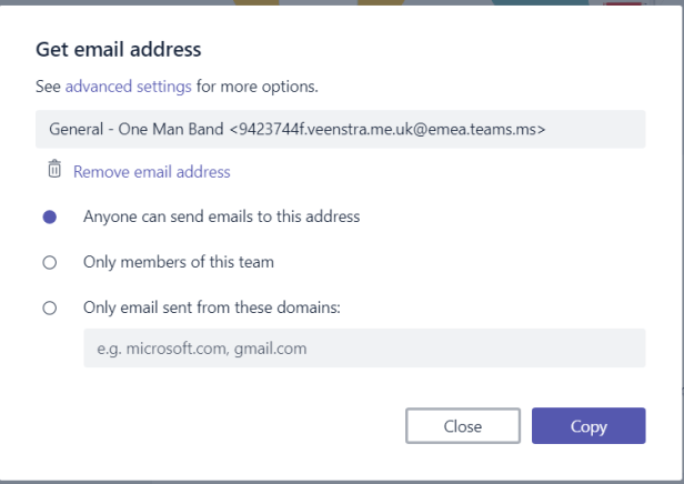 Microsoft Teams - be careful with email links to channels! 3