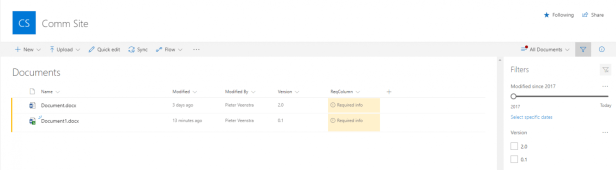 SharePoint Online - Required info and Flow, is this really needed? 1