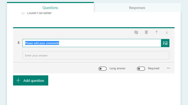 Create a feedback form with SharePoint Online and Microsoft Forms 7