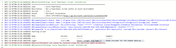 Azure Powershell - Install PnP PowerShell using InlineScript within a release definition in VSTS 6
