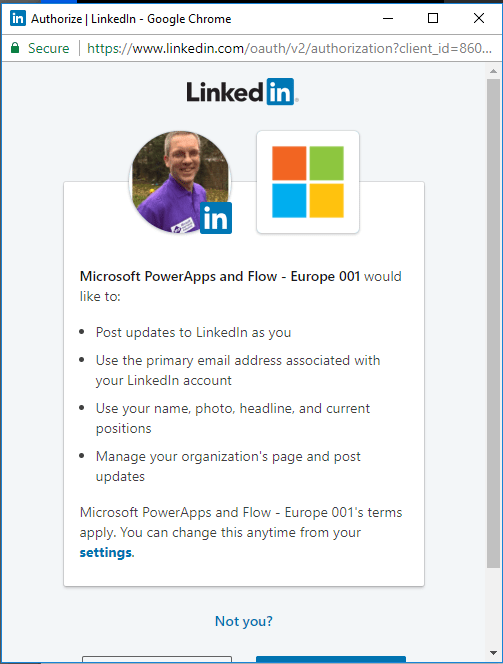 Microsoft Flow - Manage your LinkedIn posts from SharePoint 2