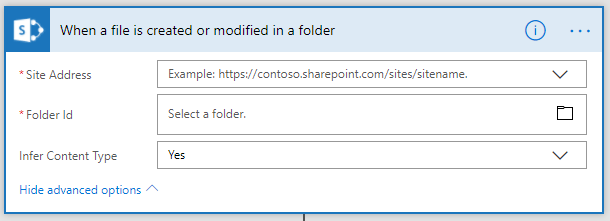 Triggers in Power Automate for SharePoint Online 2