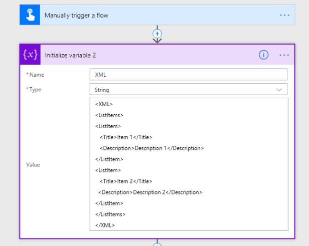 Microsoft Flow - Create SharePoint list items using Xml 1