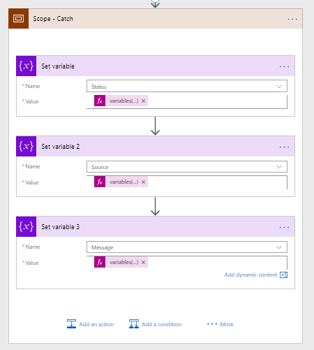 Microsoft Flow - Advanced Error Handling - Throw in flow 2