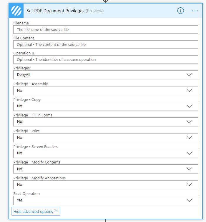 Set PDF Document Privileges