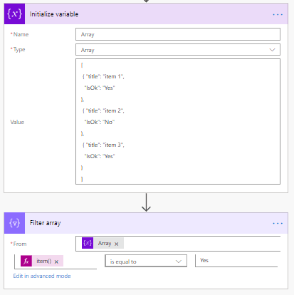 Create and Filter an array in 2 easy steps