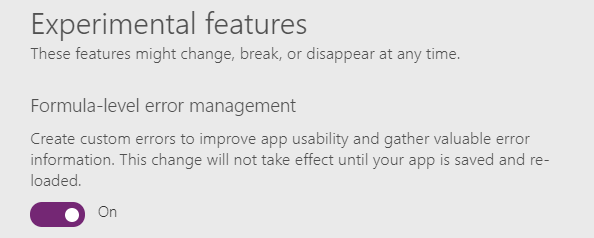 Formula-level error management