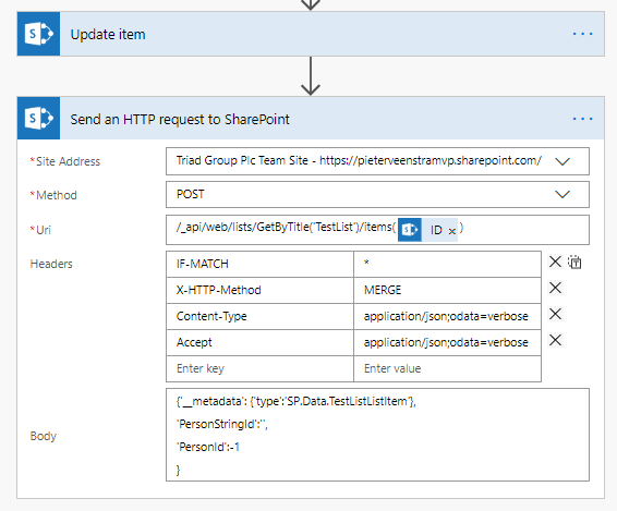 Update Item with HTTP request