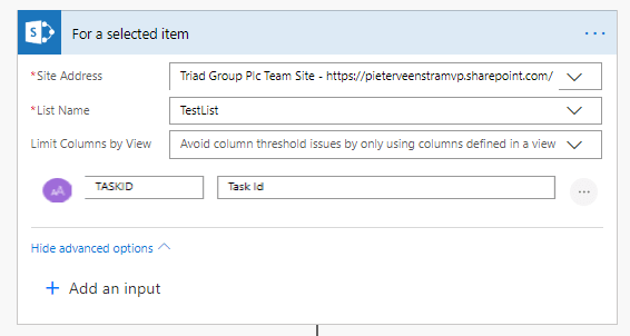 Filter the SharePoint items that you need
