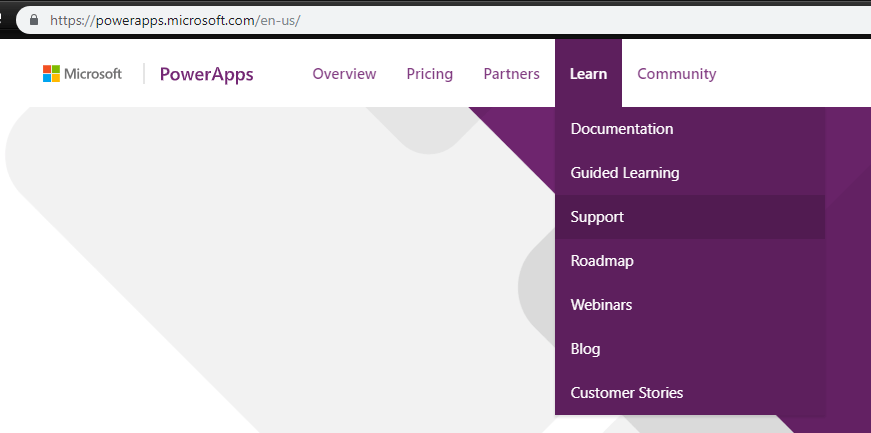 PowerApps Support