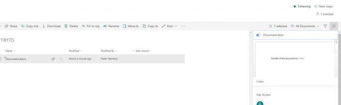 Document Preview in SharePoint