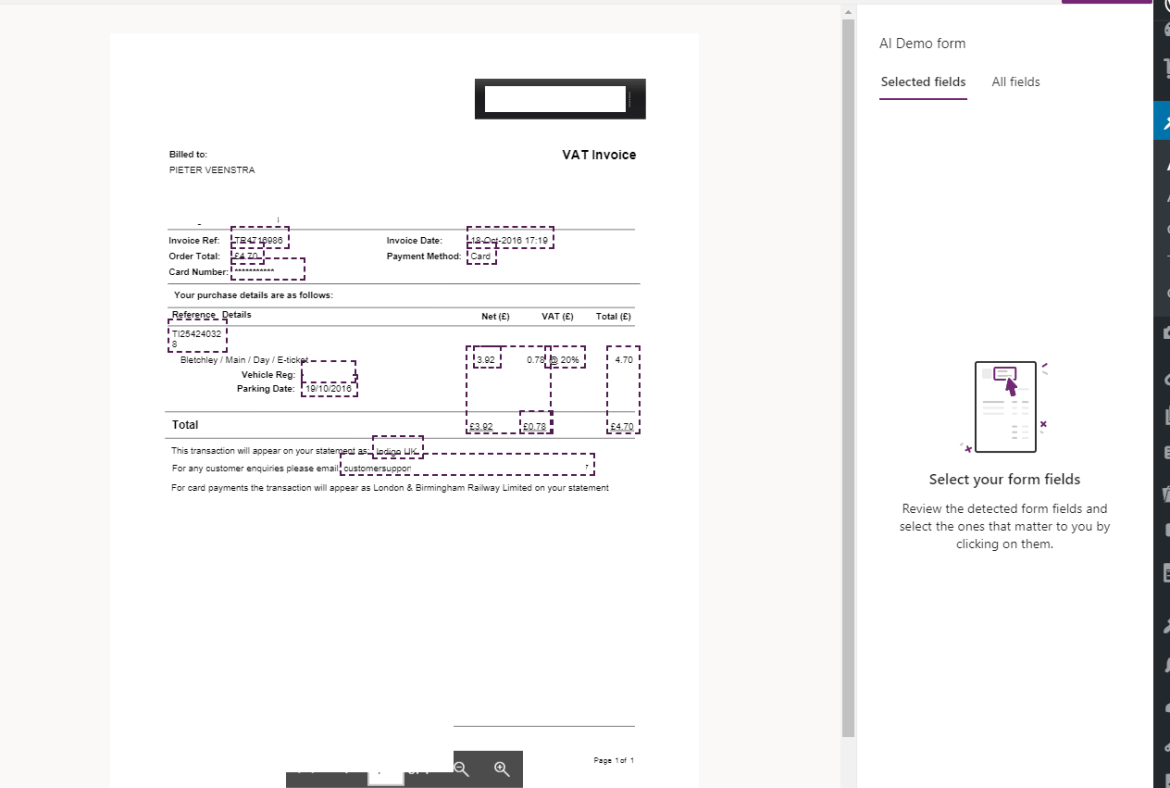 Invoice Scanned