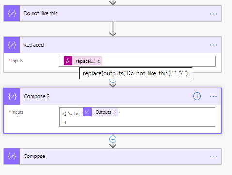 handling apostrophes using replace function