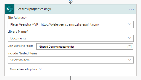 2 New filter options in Get Files action in SharePoint connector