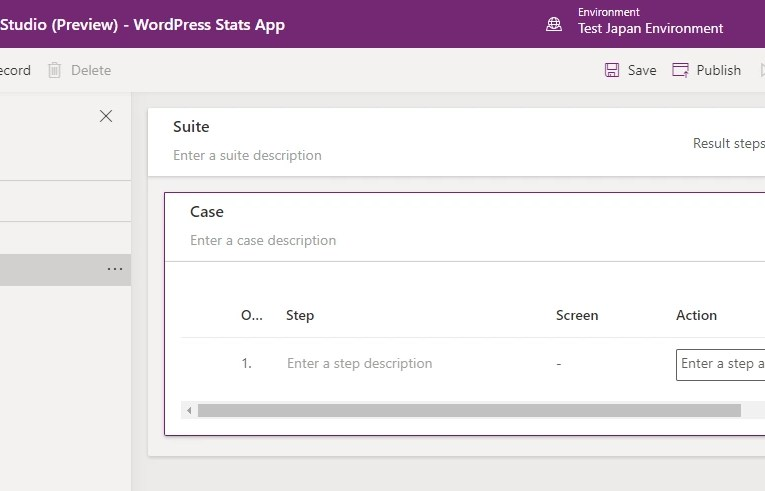 The new Tests feature in Power Apps