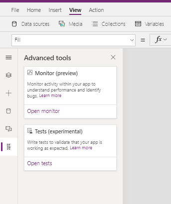 Monitor feature in Power Apps