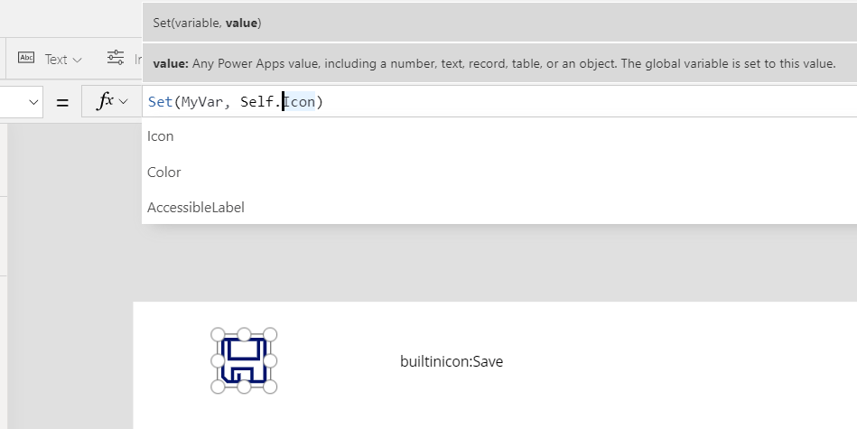 Parent, Self and ThisItem in Power Apps 2
