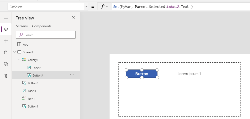 Parent, Self and ThisItem in Power Apps 4