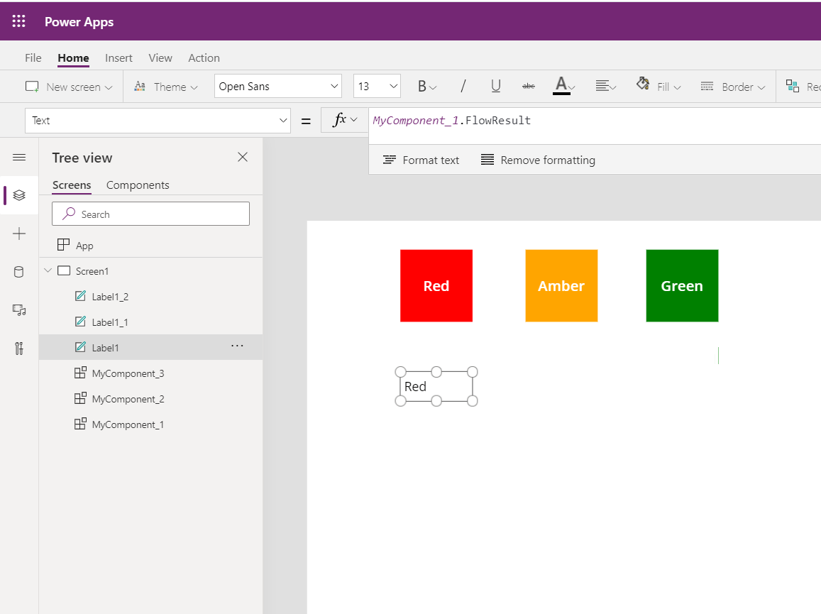 Call Power Automate flows from Power Apps components