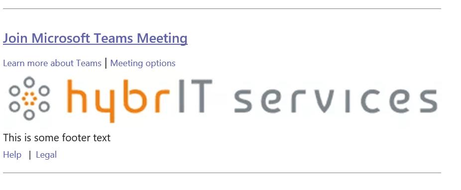 COmpony logo added to Microsoft Teams Invites
