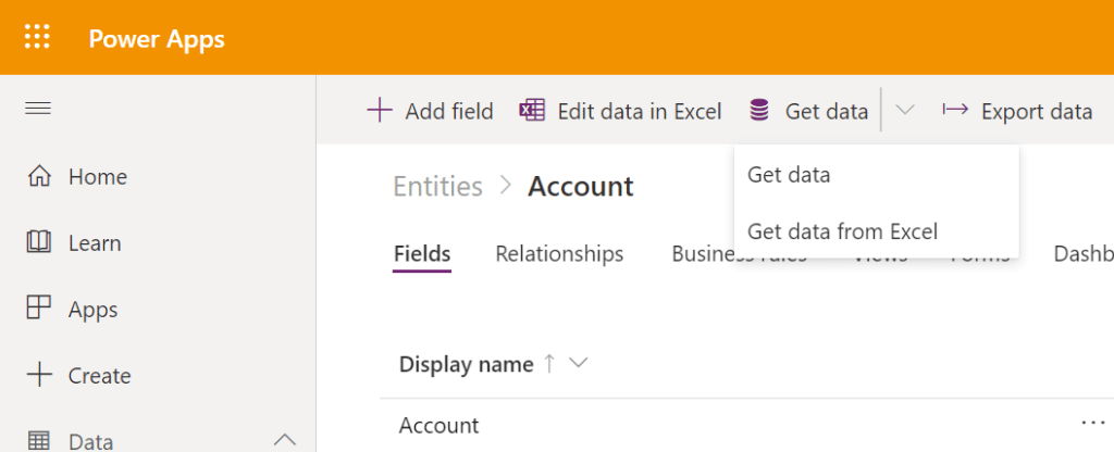 Import data or Get data from excel