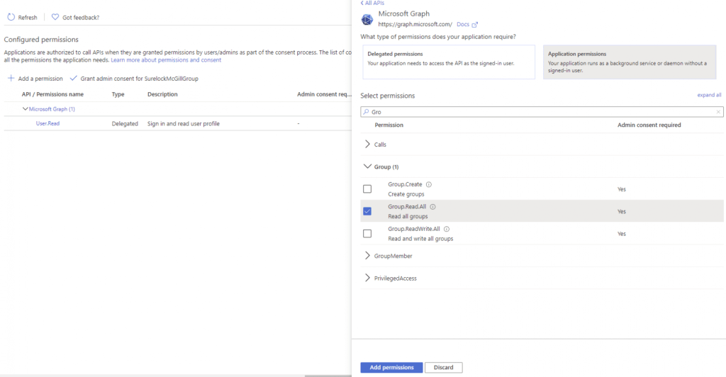 Create new group alert using Power Automate Microsoft Power Automate Group.Read .All Permissions