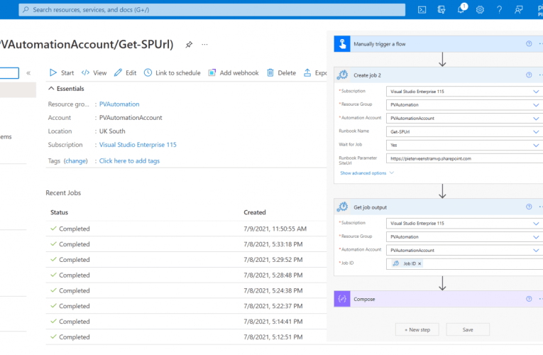 Using PnP PowerShell with Azure Automation Accounts