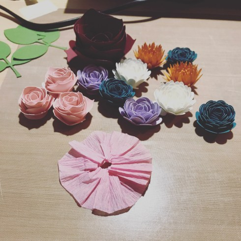 I find paper flowers so relaxing to make.