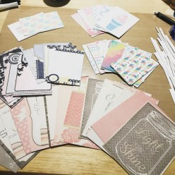Printed out a bunch of journaling cards to keep in my stash.