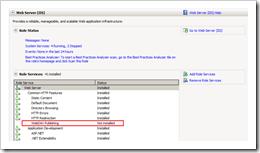IIS7 WebDAV Publishing Role Not Installed