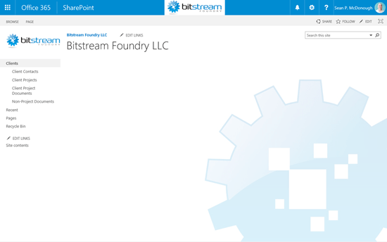 Bitstream Foundry Intranet Home Page