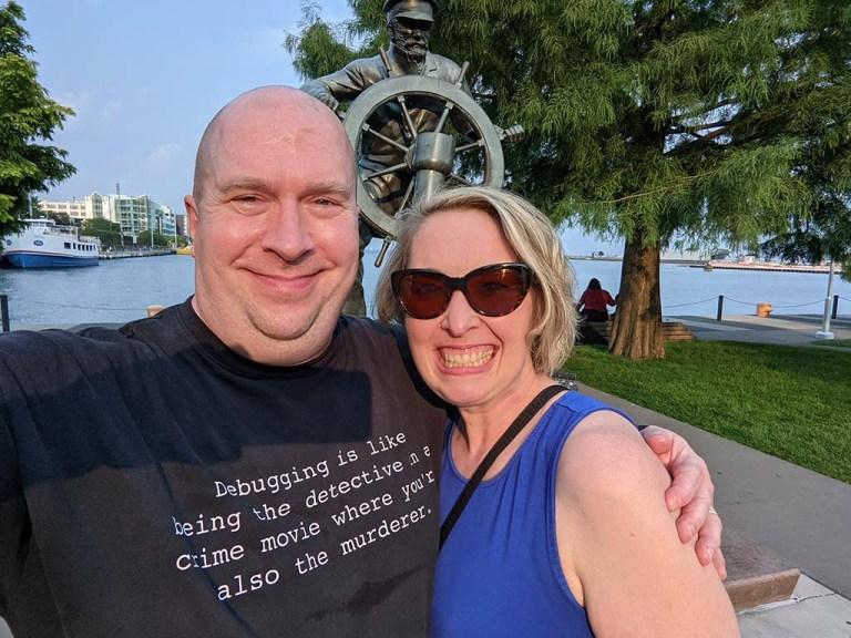 Sarah Haase and I at Navy Pier