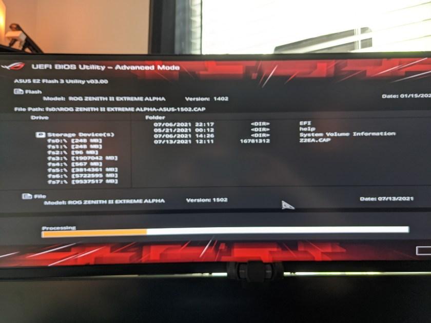 ASUS BIOS Screen