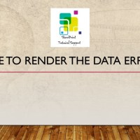 Unable to render the data error bdc